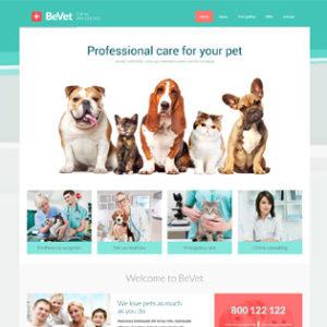 jasa pembuatan website petshop atau klink hewab vet