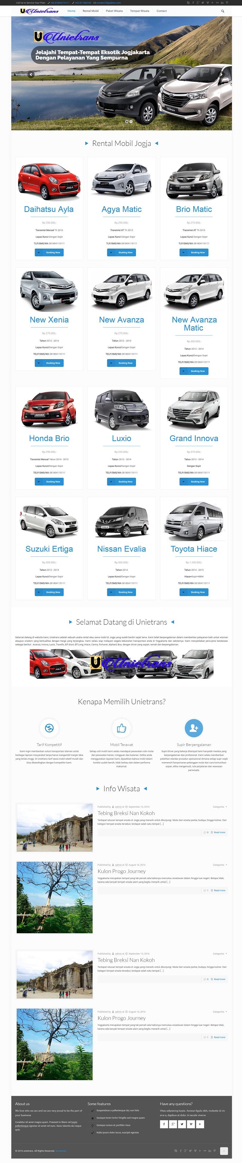 bikin website rentcar