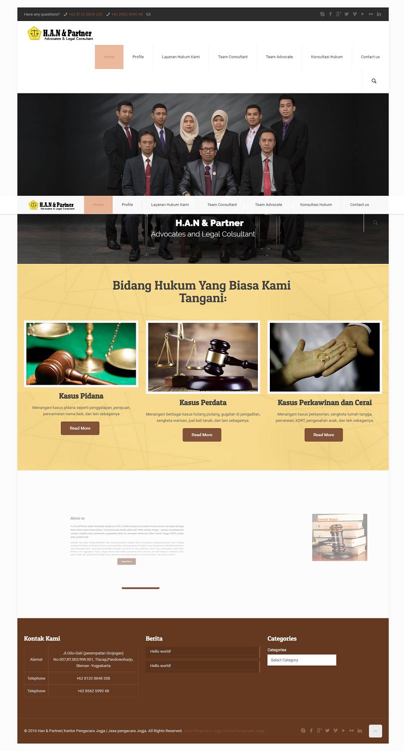 jasa pembuatan website lawyer kantor pengacara