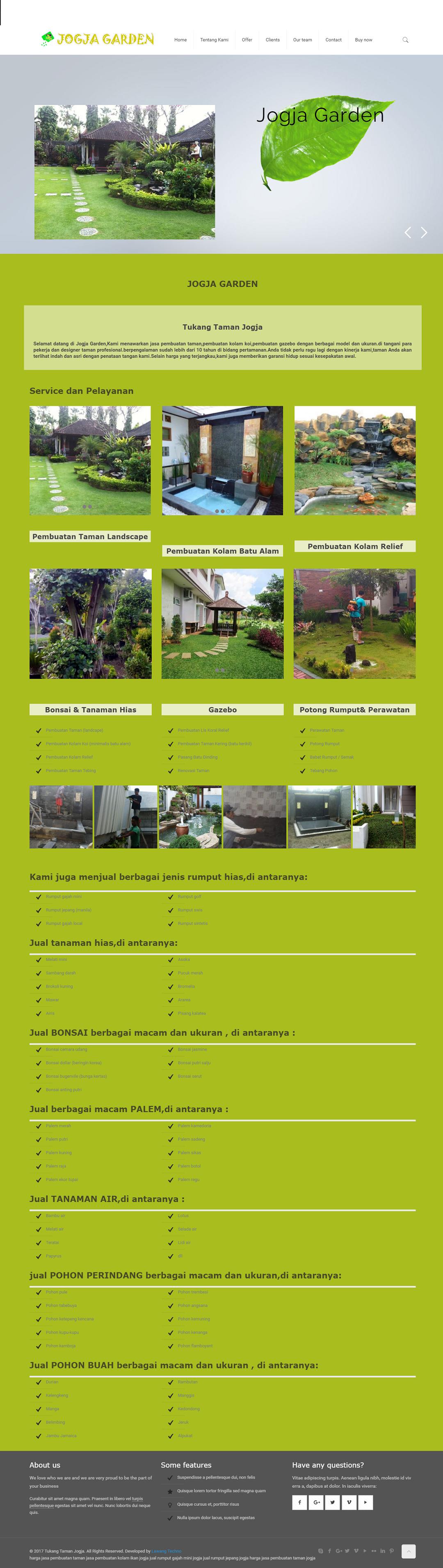 jasa pembuatan website tukang taman