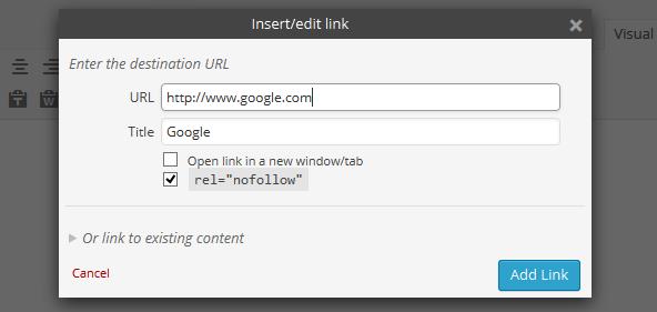 plugin wordpress untuk nofollow link otomatis