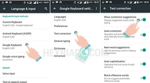 Cara Menghilangkan Auto Correct Android Smartphone