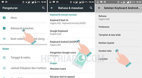 Cara Menghilangkan Autotext Android AOSP Keyboard Samsung