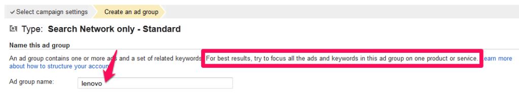 cara membuat ad group Google Adwords