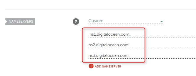 cara sambung seting domain digital ocean