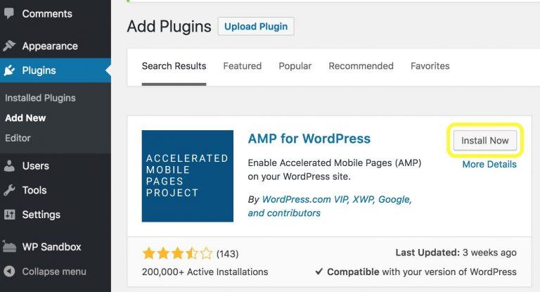 cara membuat setup AMP WordPress yang benar