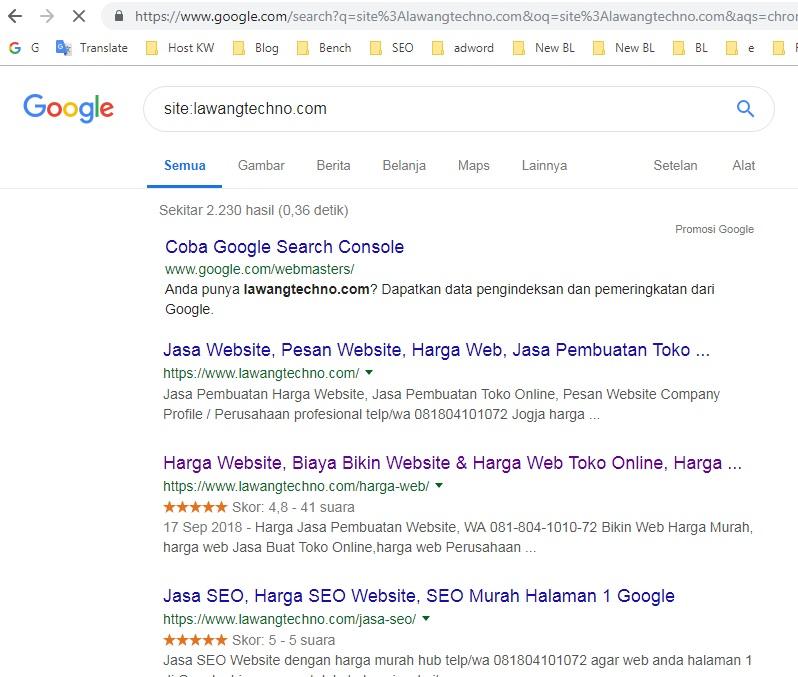 mengapa website belum terindeks di Google dan cara website cepat terindeks di Google
