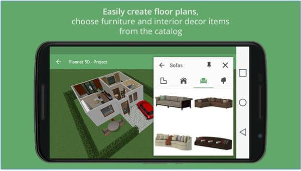 Aplikasi desain rumah 3D android - Planner-5D-Interior-Desaign