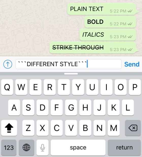 cara membuat tulisan karakter di whatsapp
