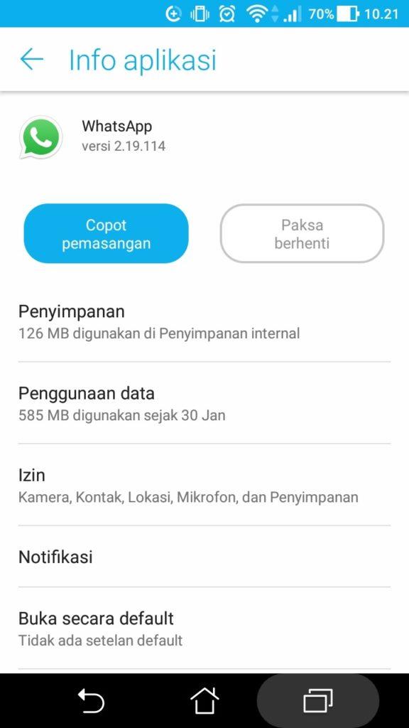 cara menonaktifkan whatsap sementara tanpa mematikan data