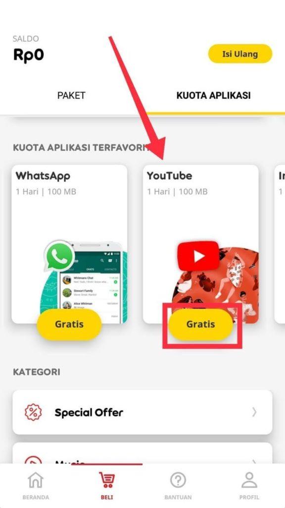 cara menonton Youtube gratis tanpa pulsa dengan kartu IM3 Indosat ooredoo