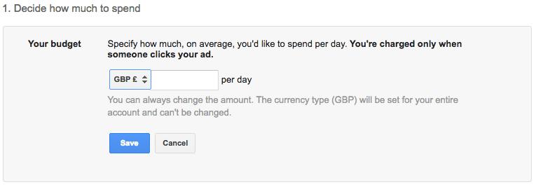 cara setting budget Google Ads Adwords