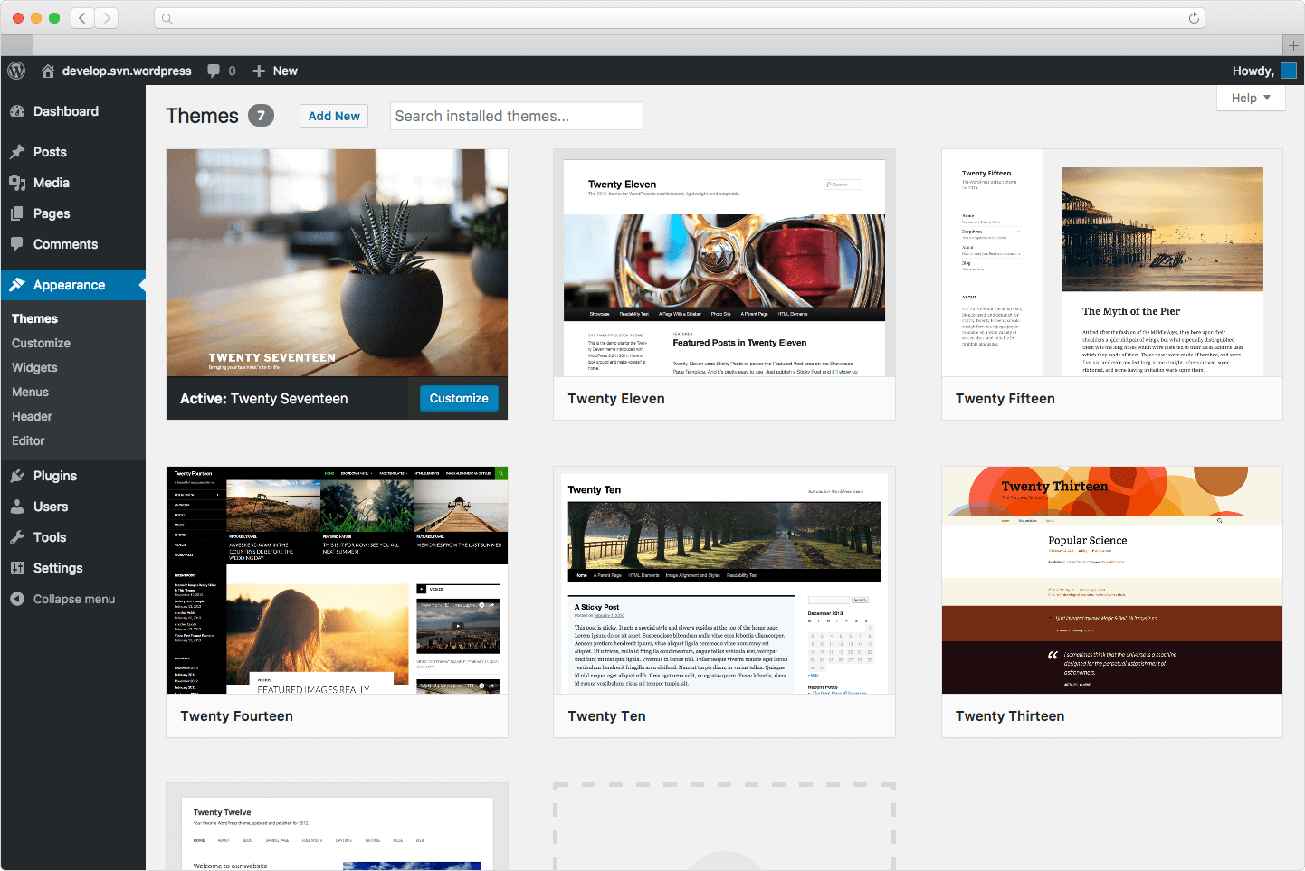 aplikasi website wordpress