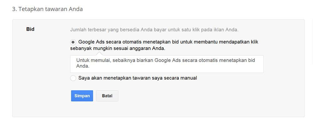 cara beriklan adwords google ads bidding