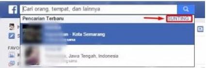 cara menghapus history facebook fb