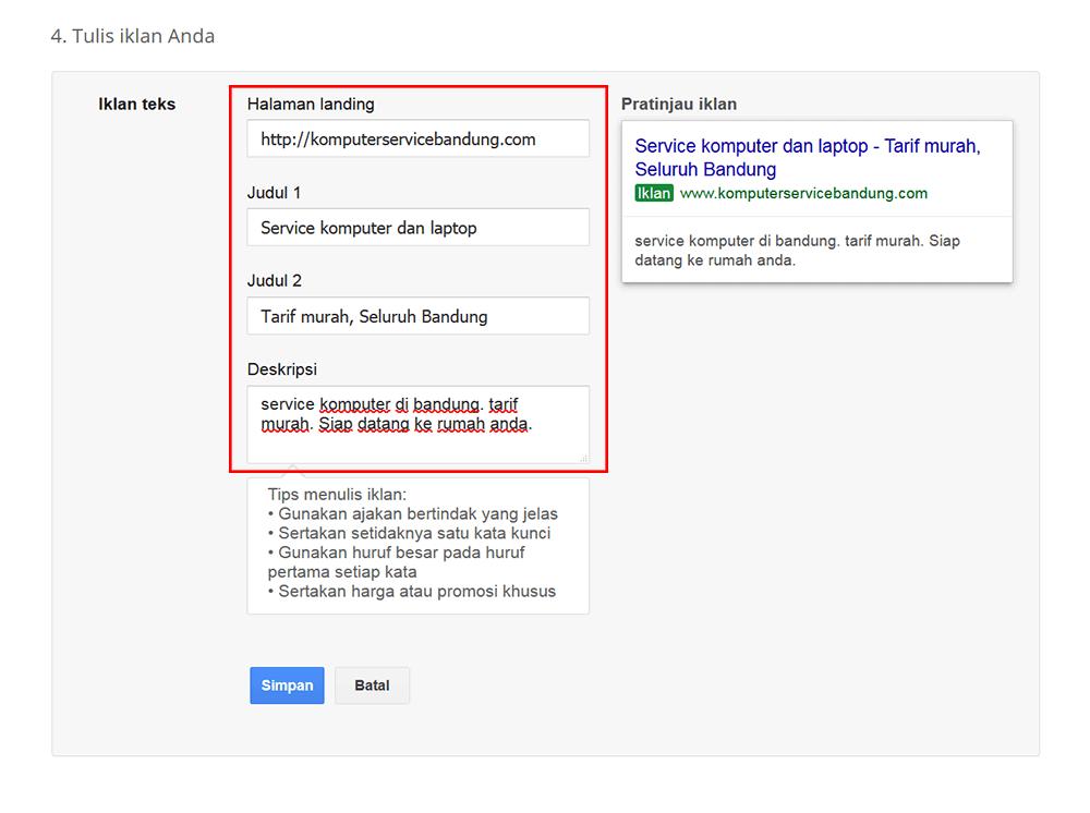 cara pasang iklan di Google - cara buat-iklan