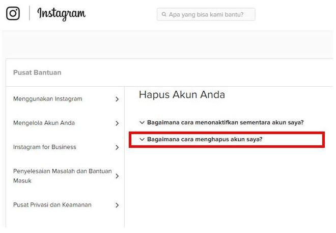 cara tutup memblokir akun instagram sendiri secara permanen (3)