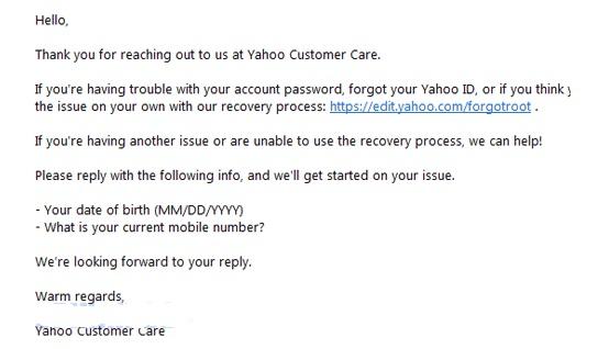 lupa password yahoo 2