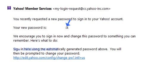 lupa password yahoo 3