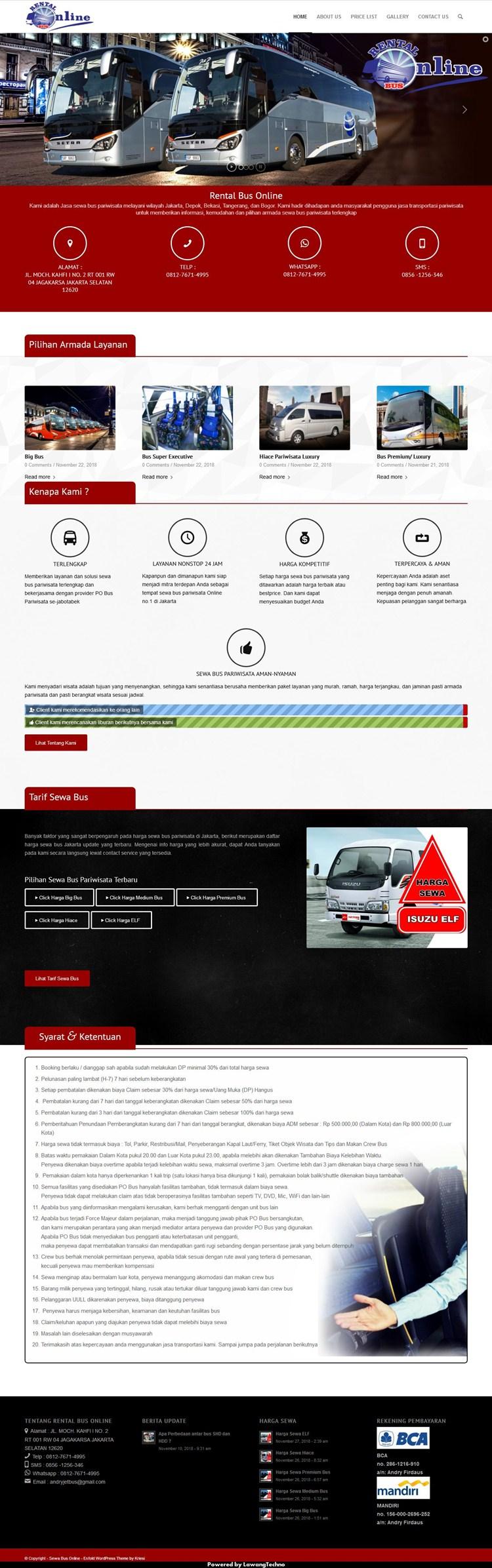 Rental Bus Online
