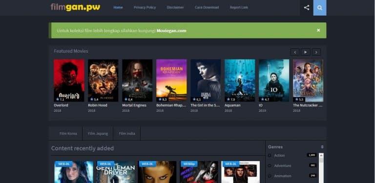 situs website download film gratis free - FilmGan