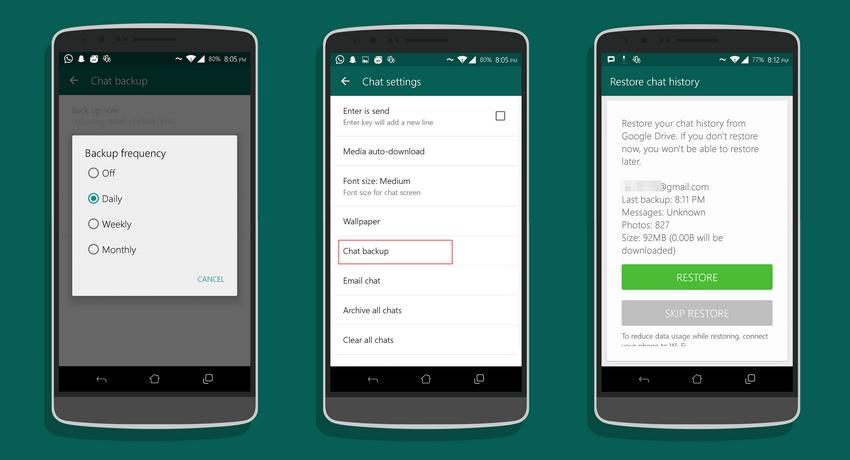 Cara Mengembalikan Chat WhatsApp yang hilang