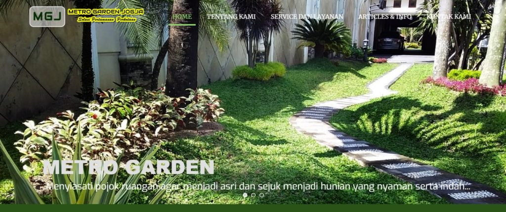 jasa pembuatan website jasa landscaper supplier pembuatan taman jogja