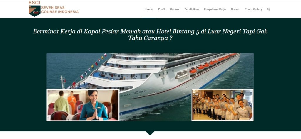 pendidikan kapal pesiar di Sampit