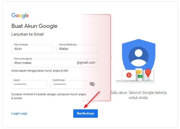 cara membuat email tanpa nomor HP
