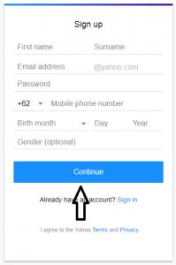 cara membuat email yahoo 1