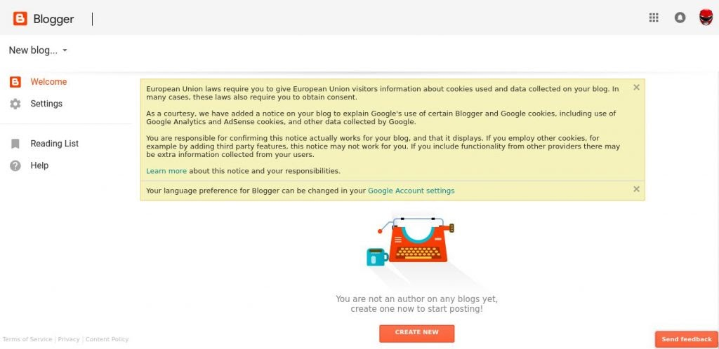 cara membuat website gratis di blogspot blogger
