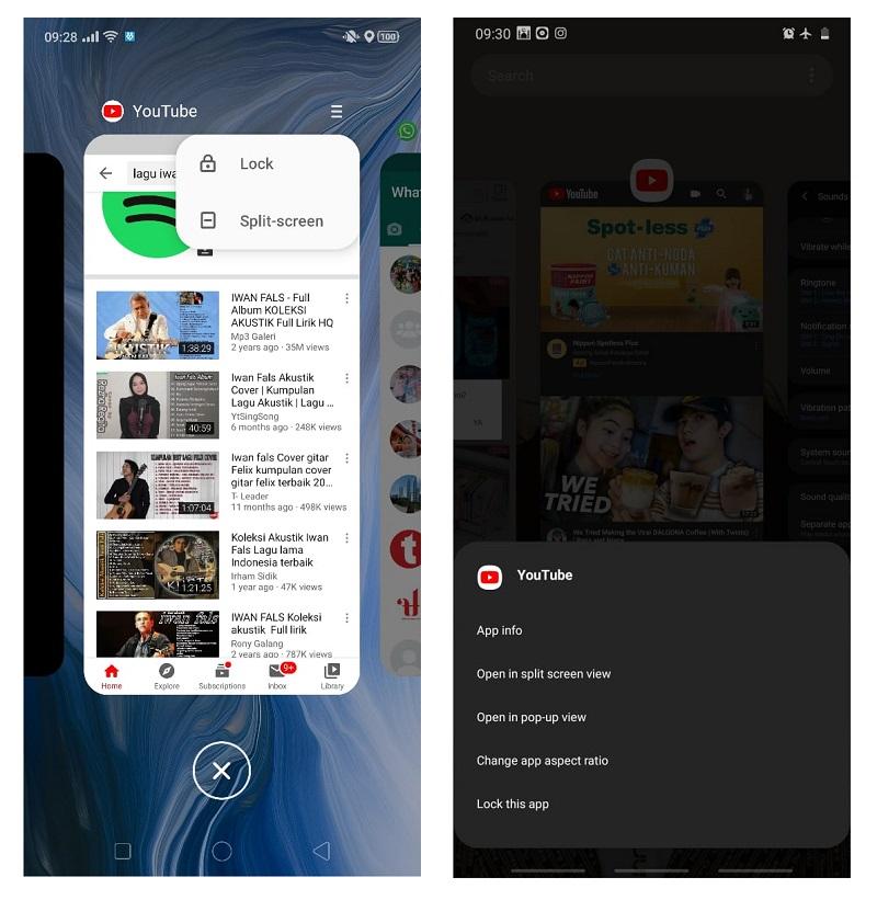 cara membuka 2 aplikasi sekaligus di Android