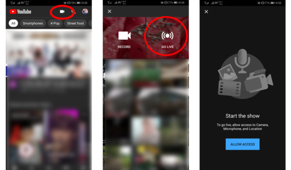 Cara Live Streaming ke Youtube dengan HP smartphone