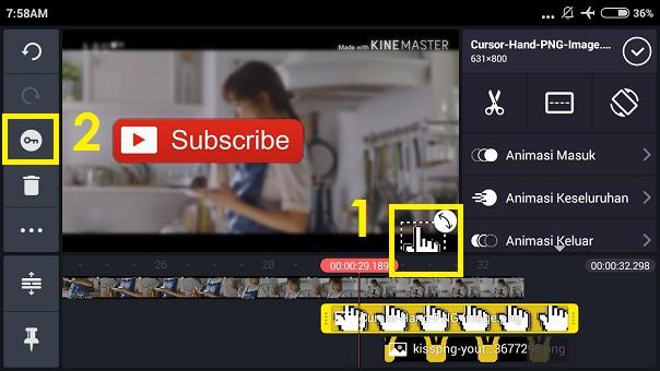 Cara Membuat Animasi Tombol Subscribe Youtube dan Lonceng dengan di HP (7)