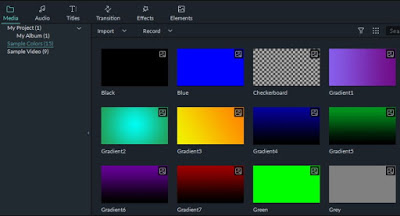 cara mengakses warna sampel dalam Filmora