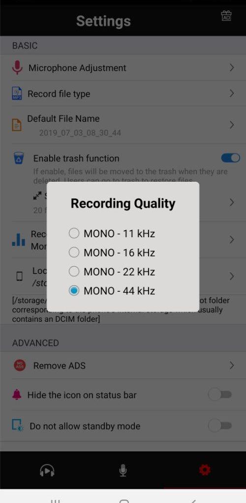 cara setting microphone di android 2