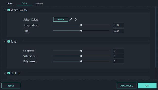 tutorial cara menggunakan filmore - pengaturan warna video
